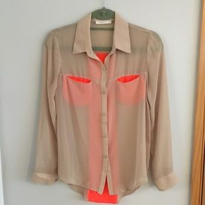 Lush Buttondown Blouse